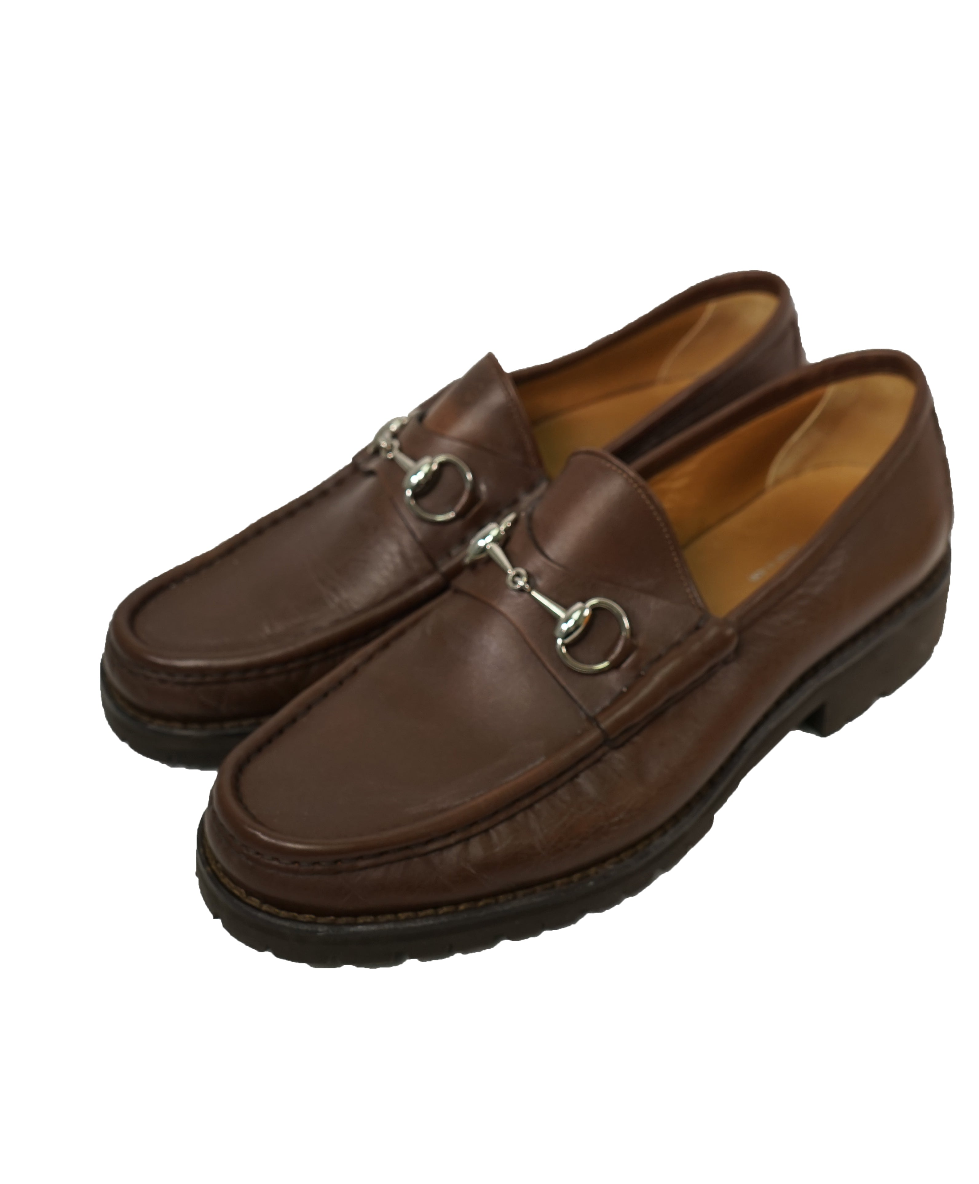 GUCCI - Horse-bit Loafers Brown Iconic Style - 10.5