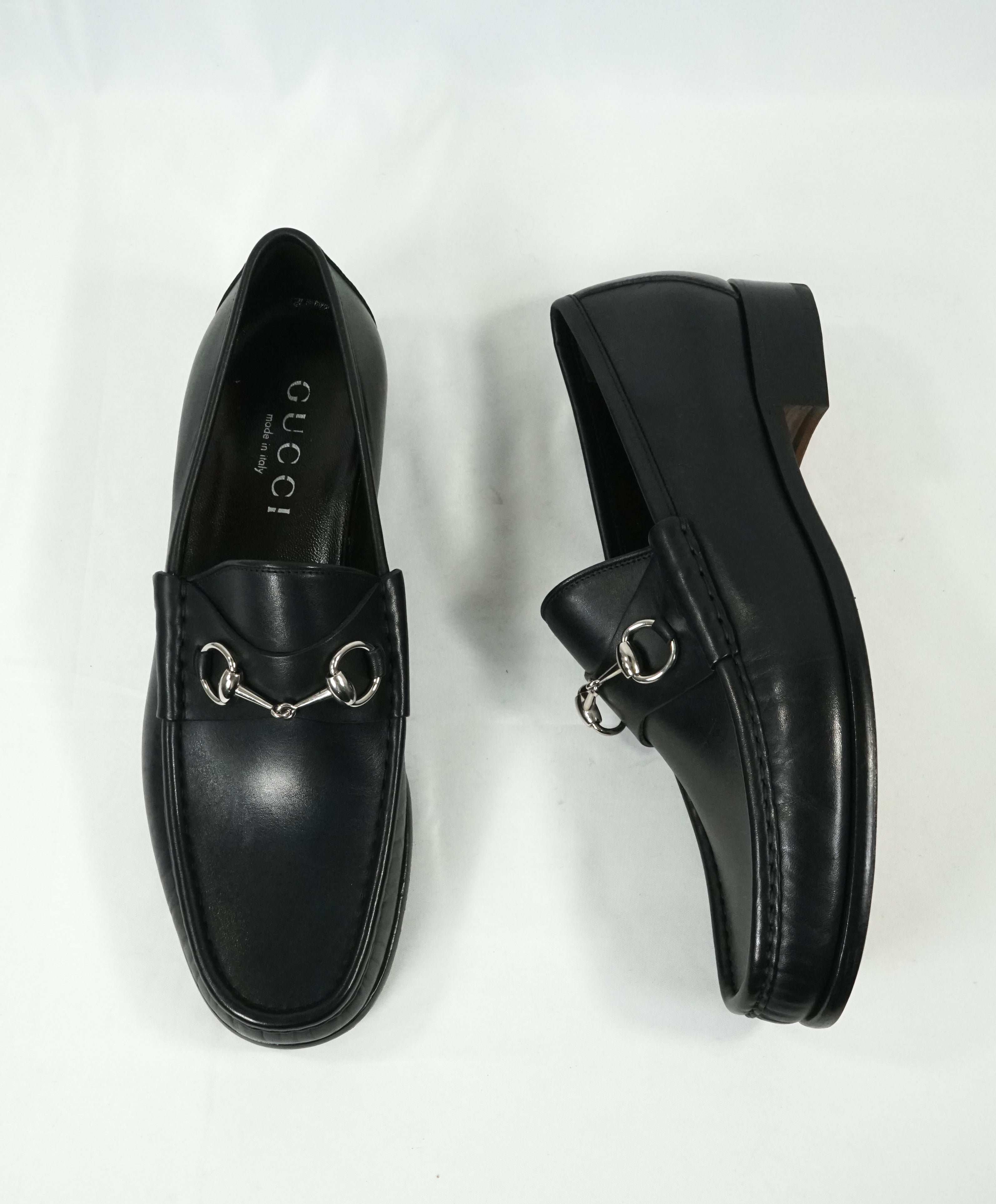 GUCCI - Horse-bit Leather sole Loafers Black Iconic Style - 11