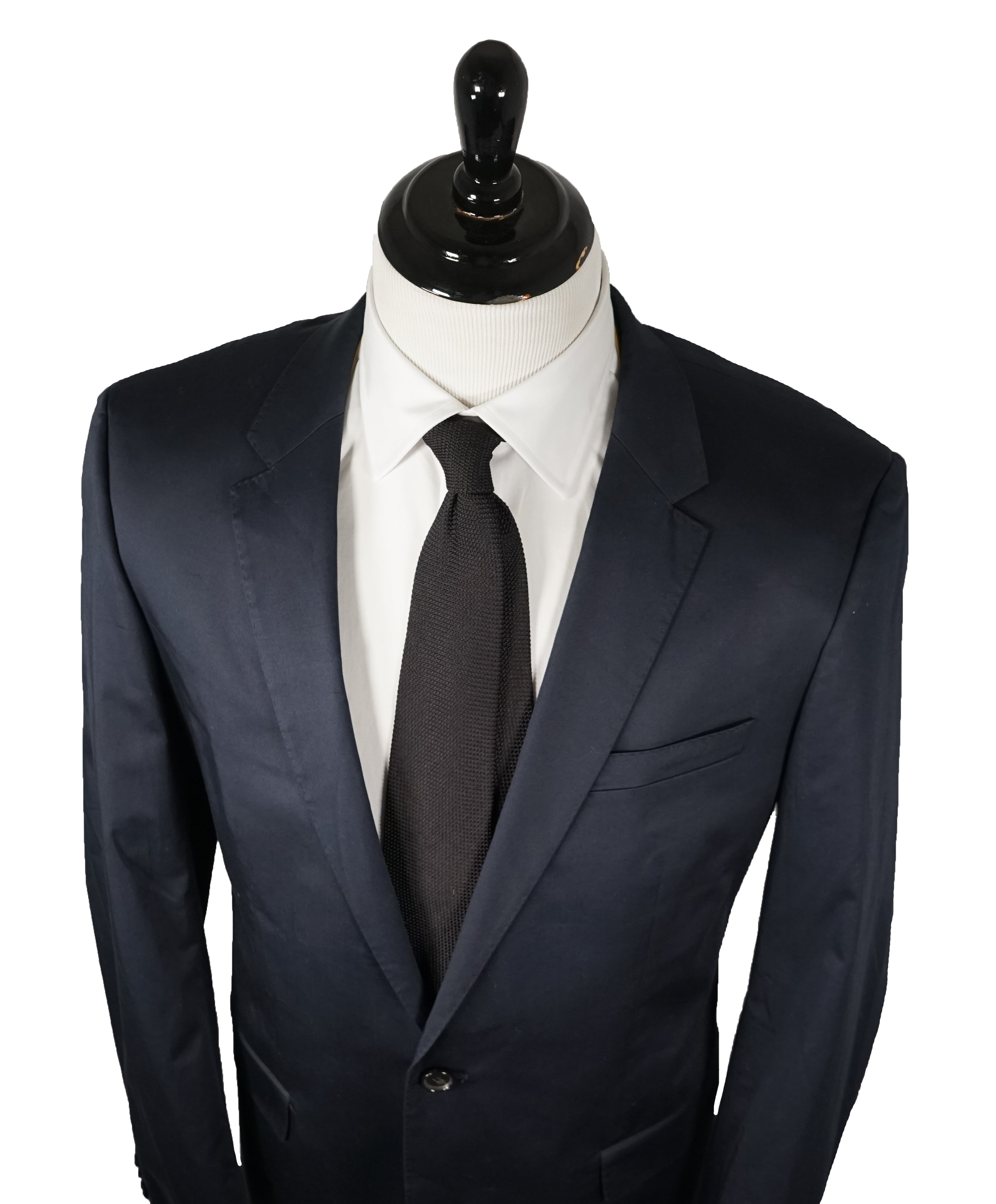 "HUGO BOSS - Navy ""Stretch"" Cotton & Elastane Summer Suit - 44L"