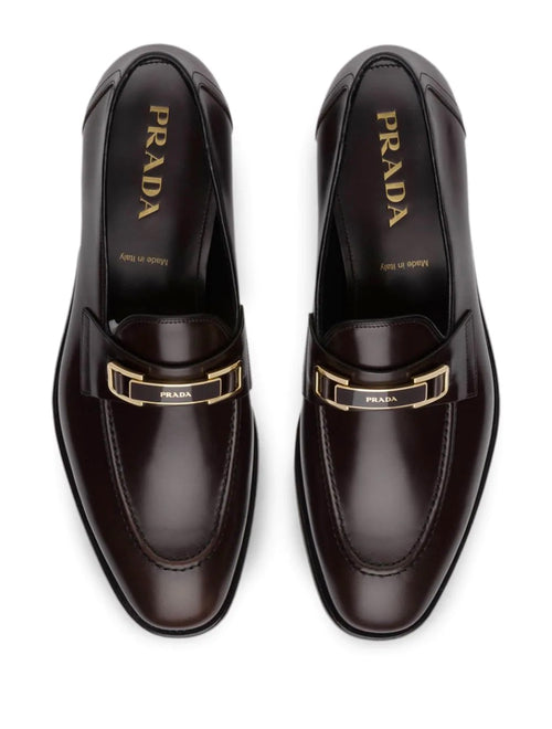 "$890 PRADA - Good Buckle ""Bright Calf Leather Loafers""- 10US"
