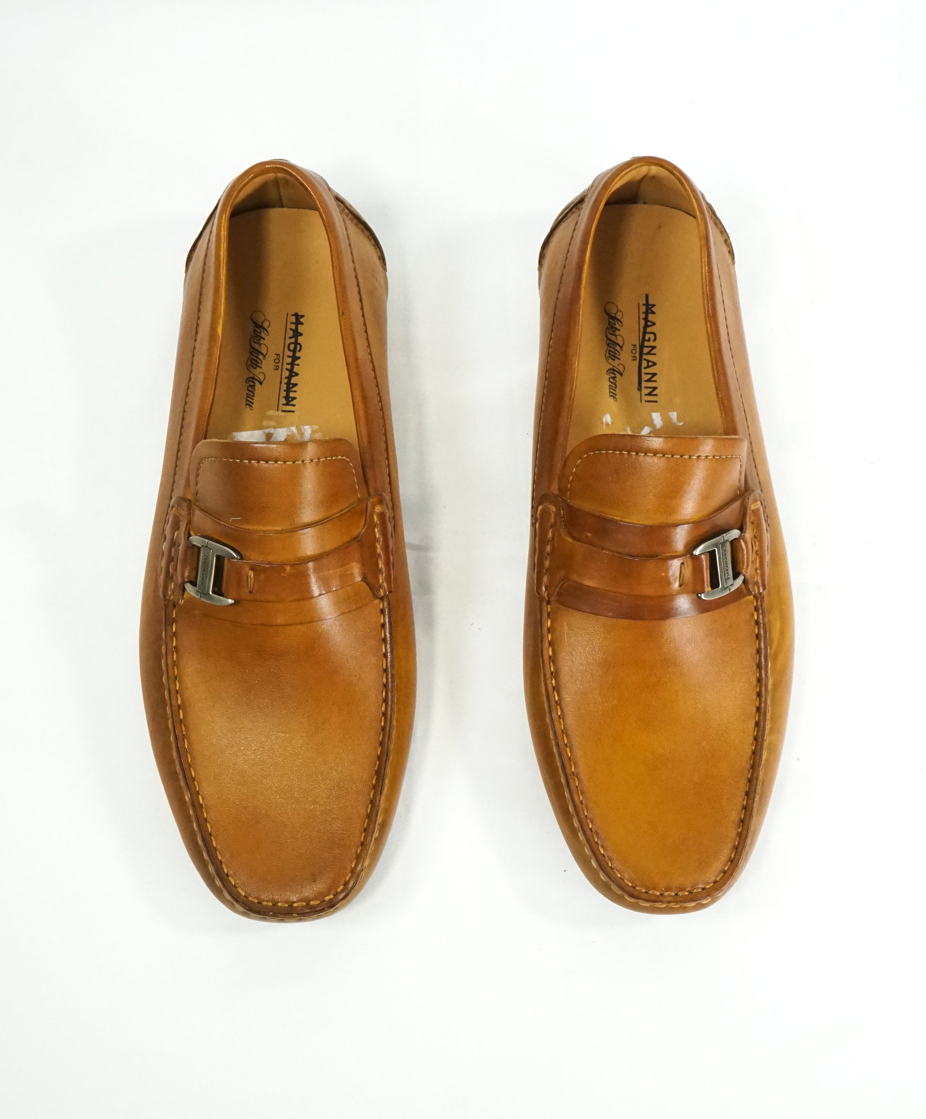 MAGNANNI - Classic Brown Bit Leather Loafers W Rubber Sole - 8