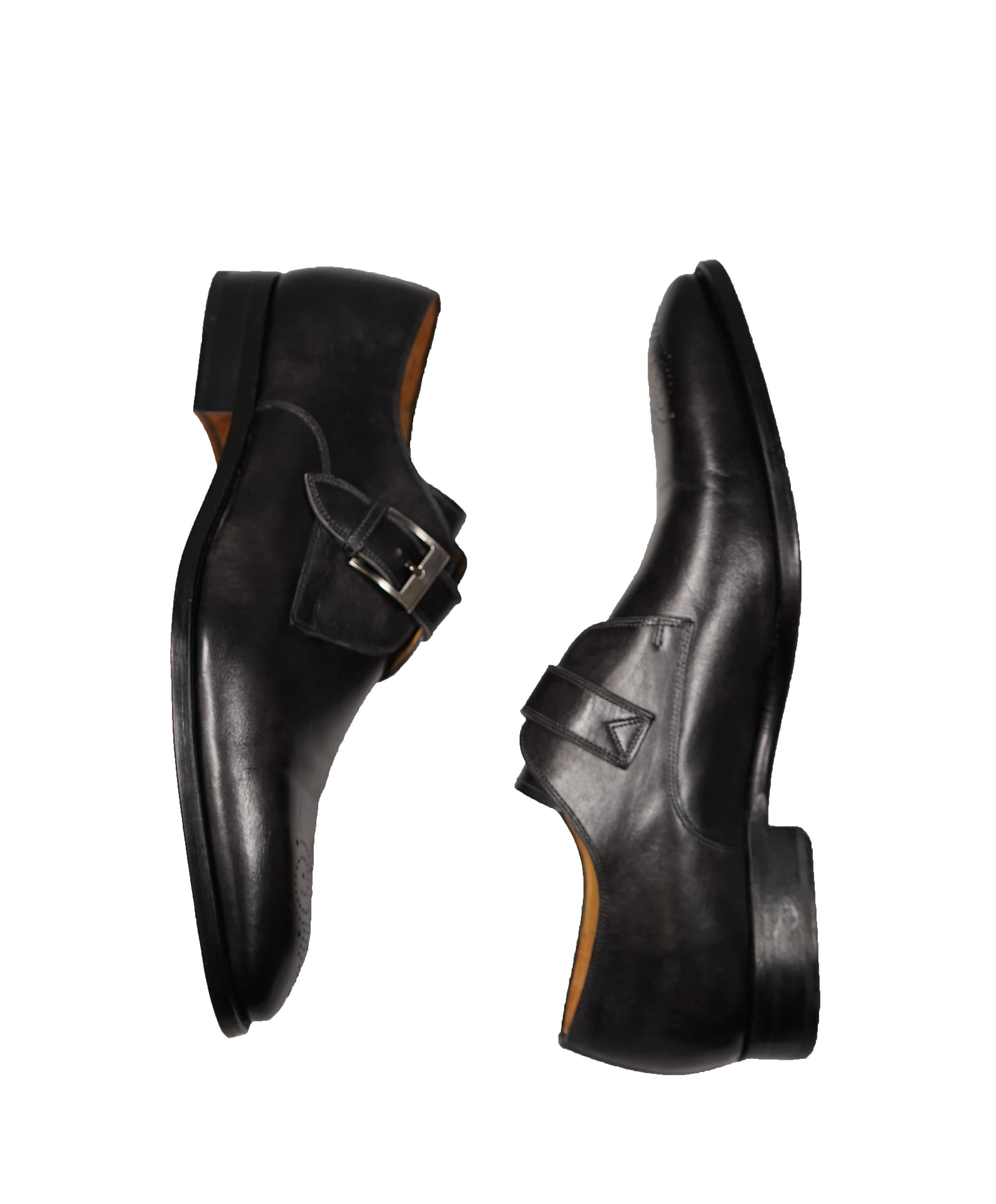 MAGNANNI - Single Monk Strap Loafers Brogue Tip -13