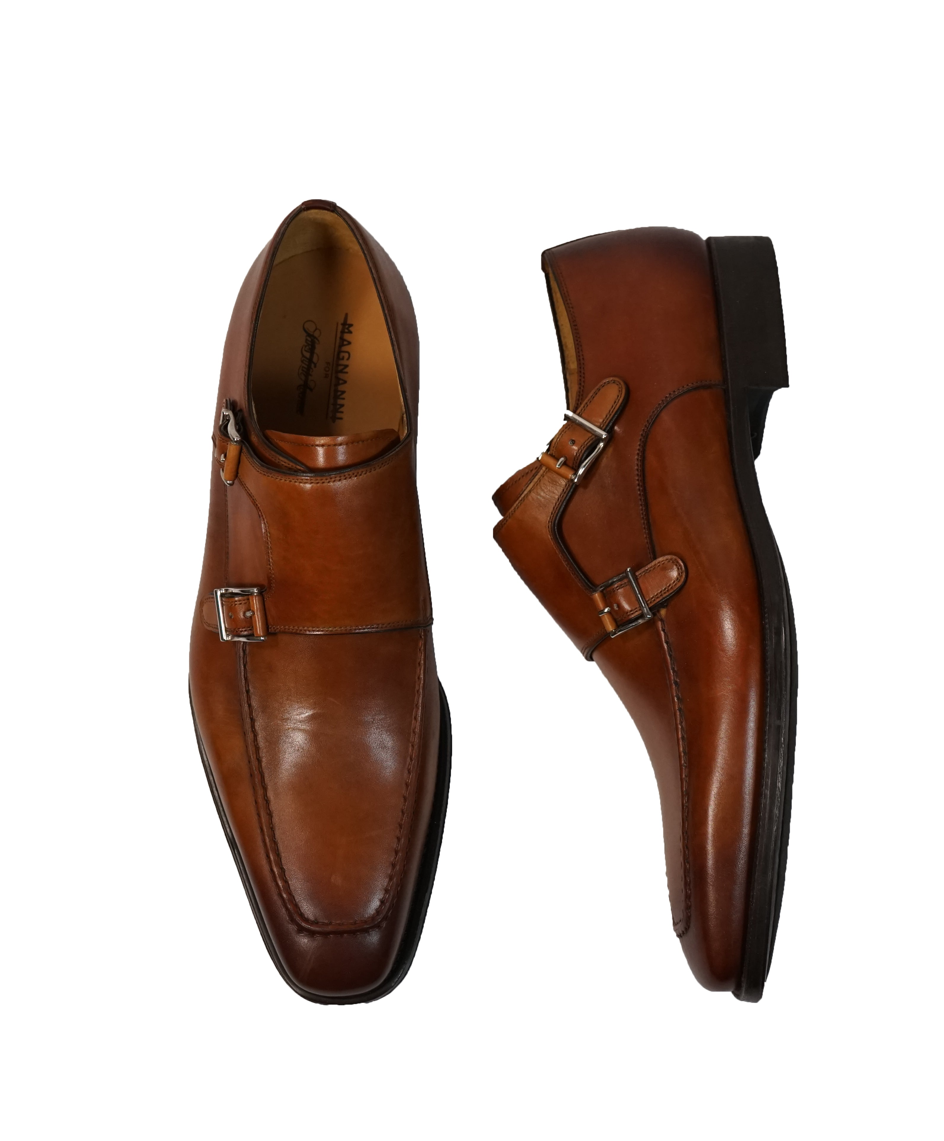 MAGNANNI FOR SFA - Double  Monk Strap Loafers - 10