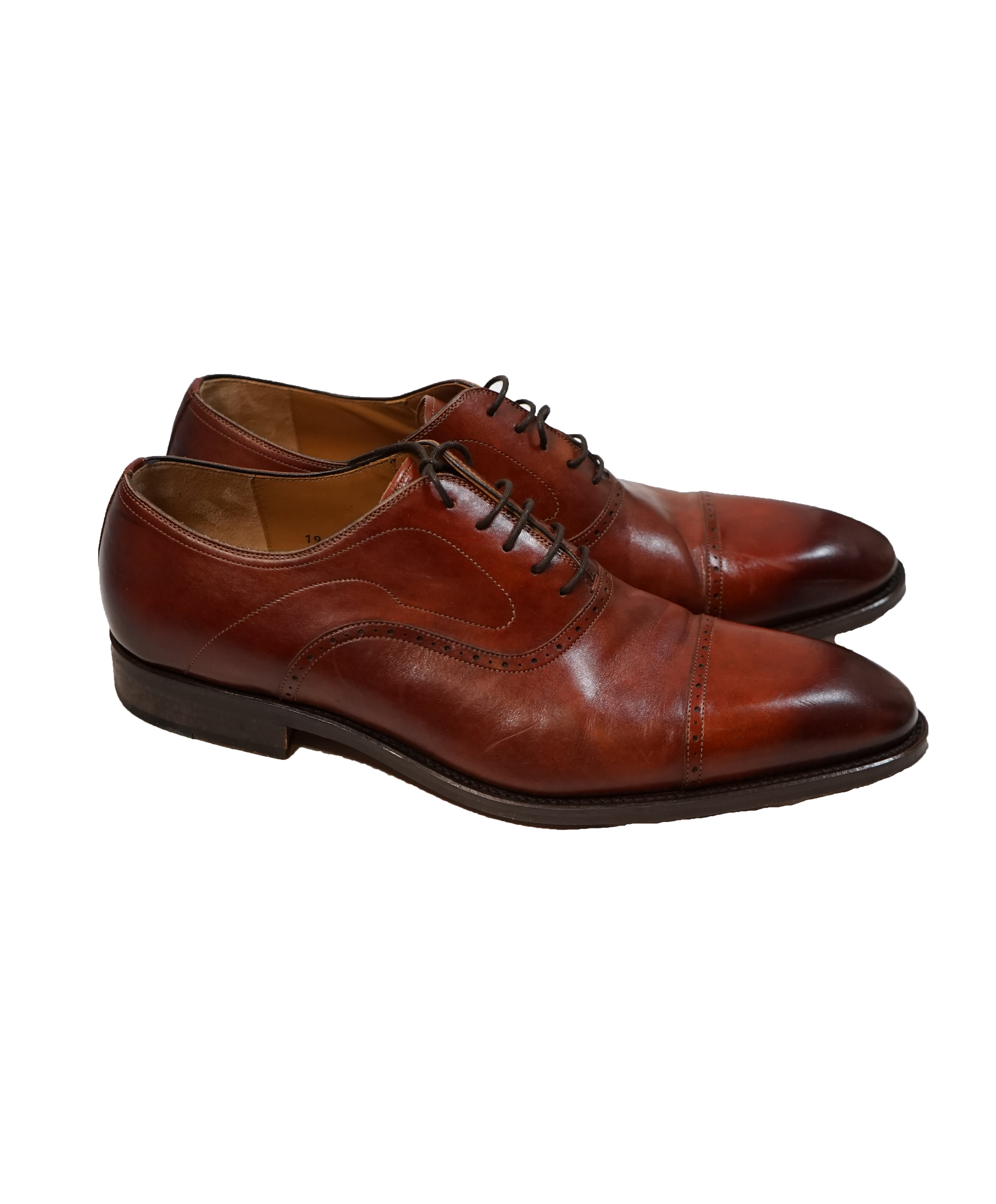 MAGNANNI For SAKS FIFTH AVENUE- Brown Cap-Toe Oxfords - 12
