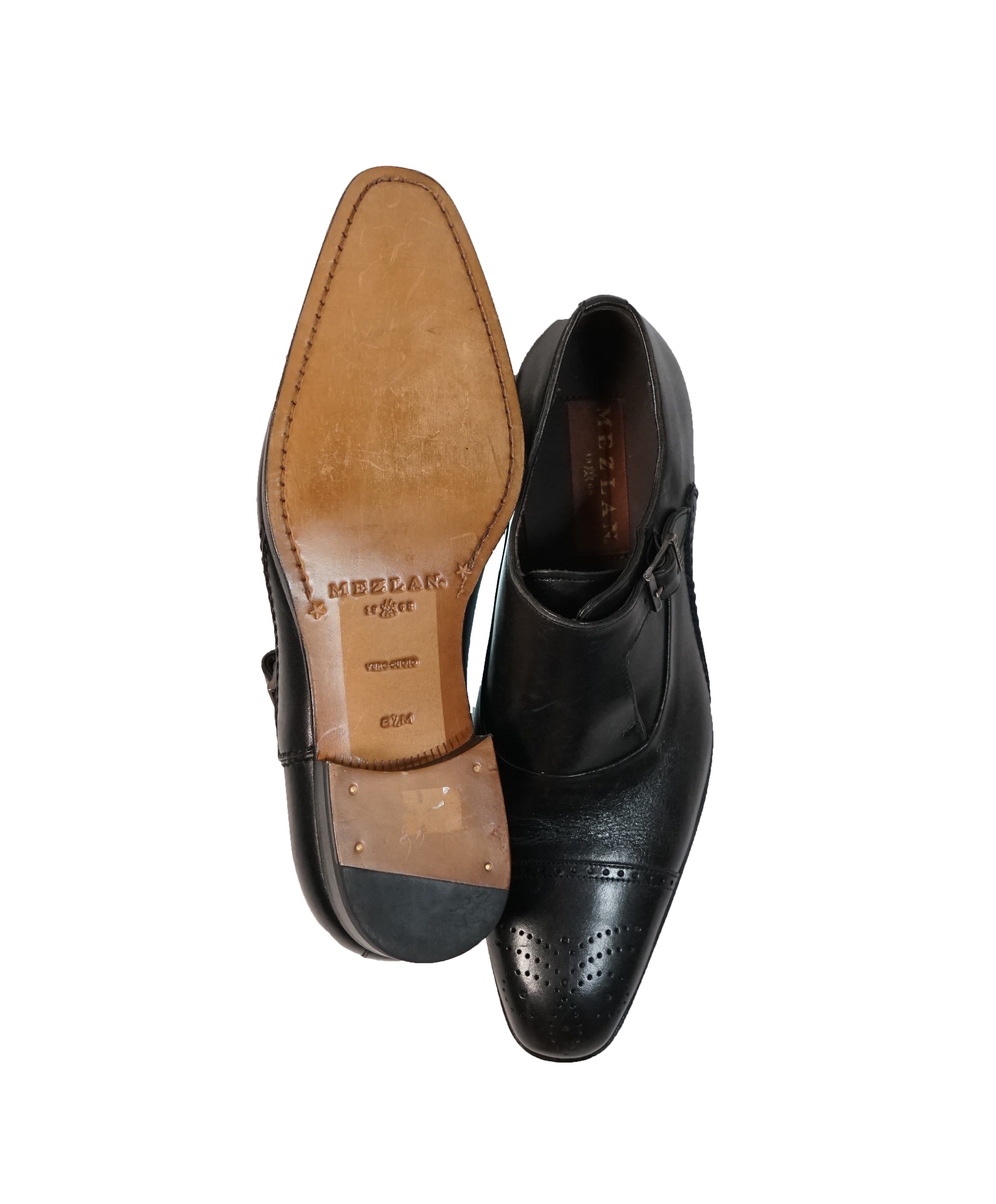 MEZLAN - Single Cutaway Monk Strap Loafers - 8.5
