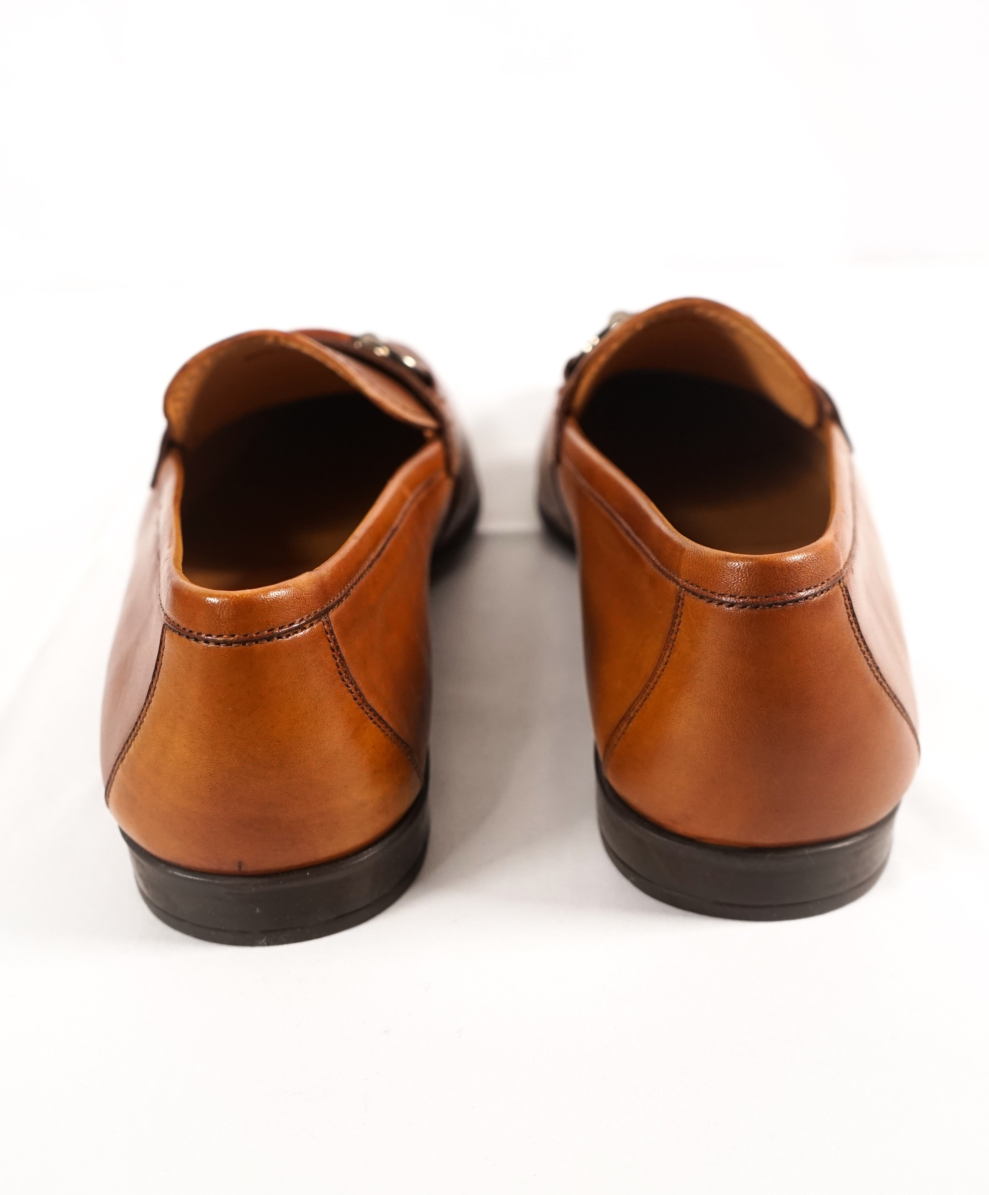 MAGNANNI - Smooth Brown Bit Leather Loafers W Rubber Sole - 9
