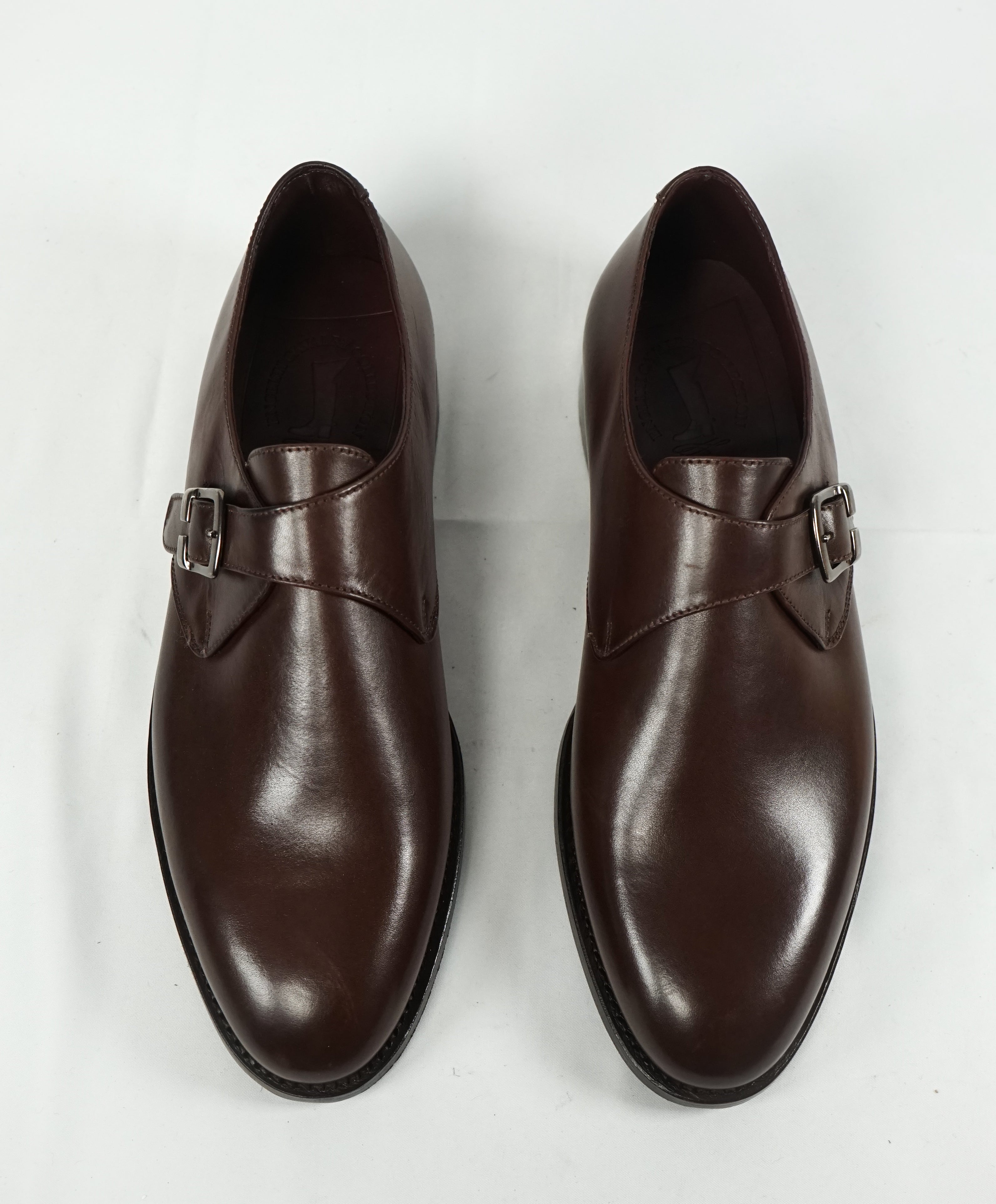 NETTLETON - Brown Hand Made In England Single Monk Loafers - 9