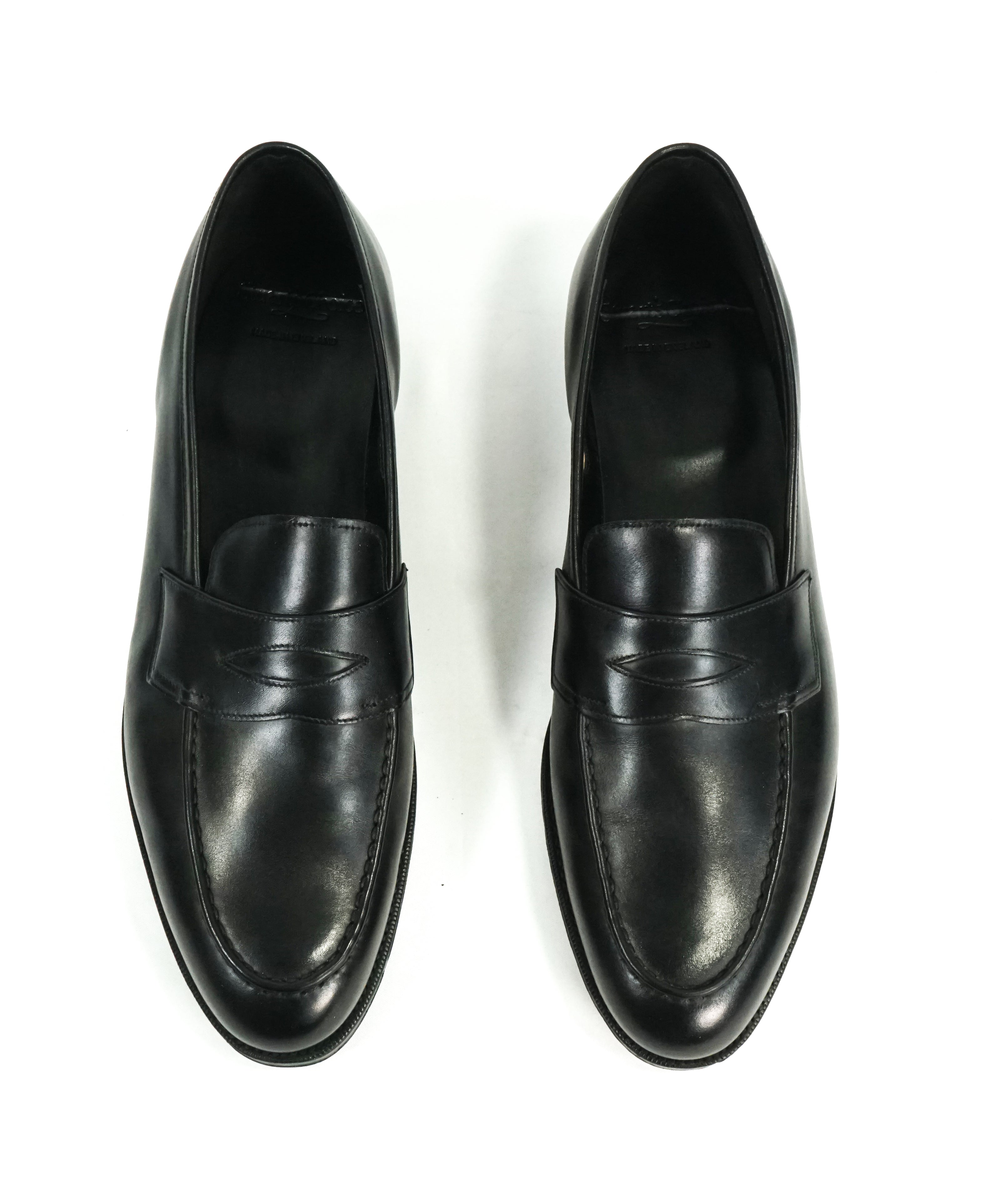 "PAUL STUART by EDWARD GREEN - ""Piccadilly"" Leather Loafers UK Made - 12"