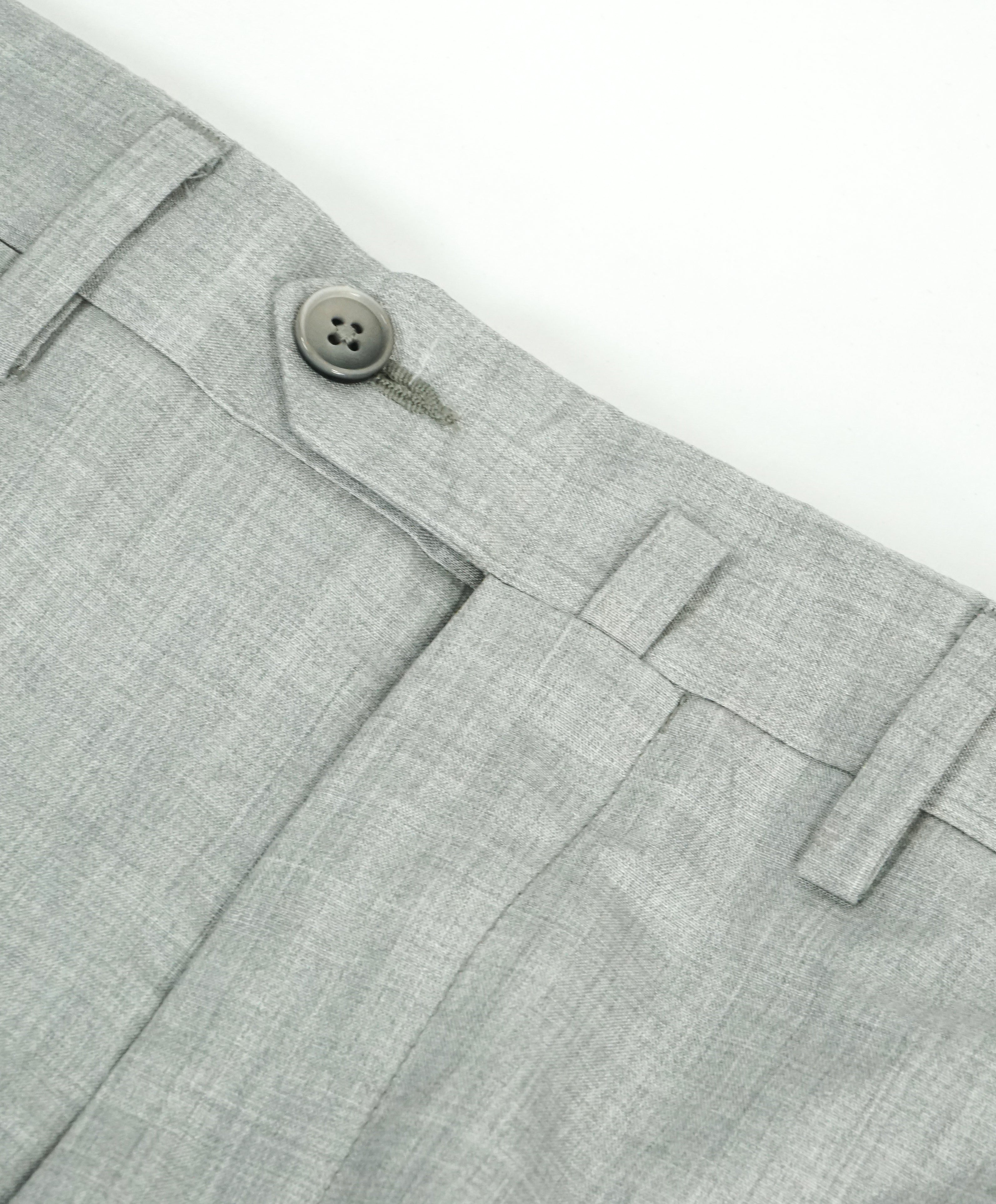 SAKS FIFTH AVE - Light Gray 100% SILK Made In Italy Flat Front Dress Pants - 32W