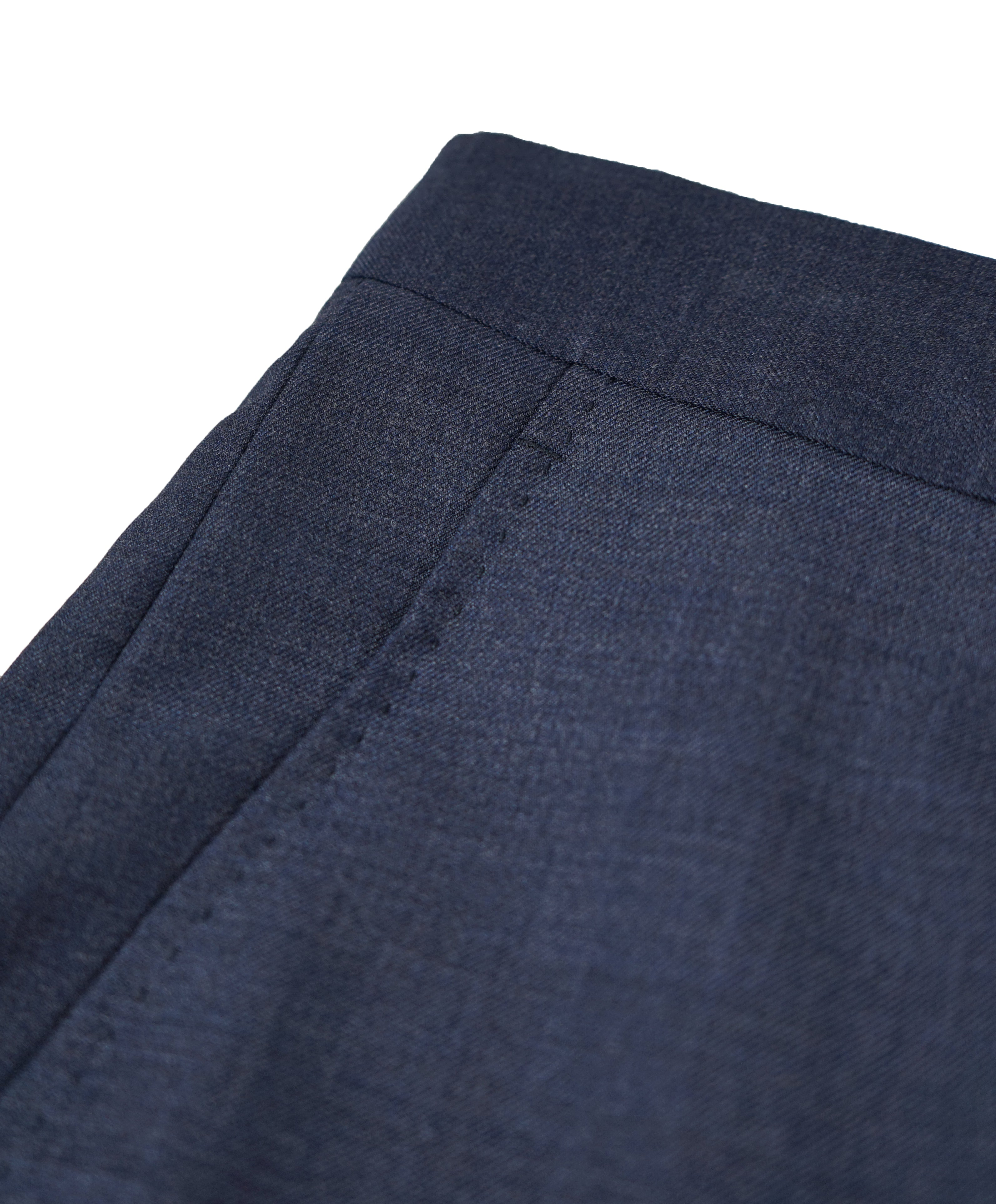 SAKS FIFTH AVE - Medium Blue MADE IN ITALY Flat Front Dress Pants - 34W