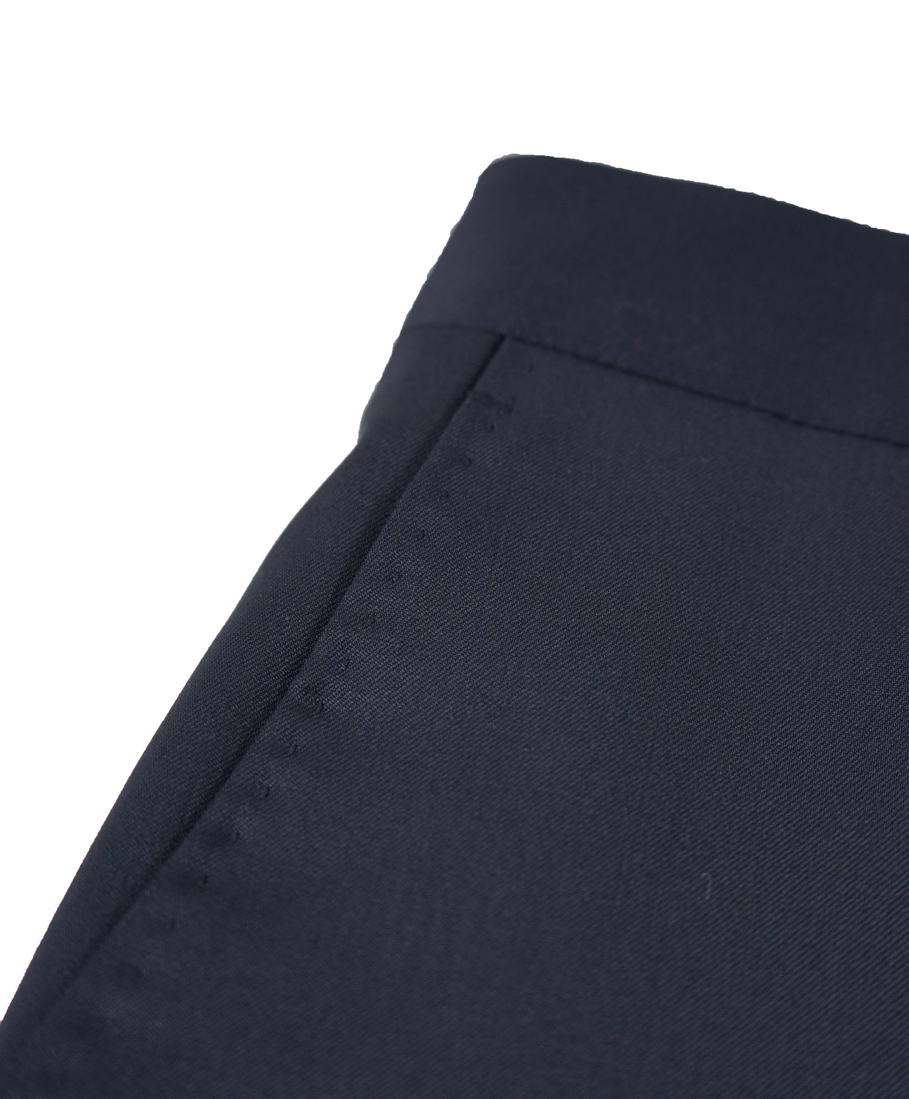 SAKS FIFTH AVE - Navy Wool / Silk MADE IN ITALY Flat Front Dress Pants - 34W