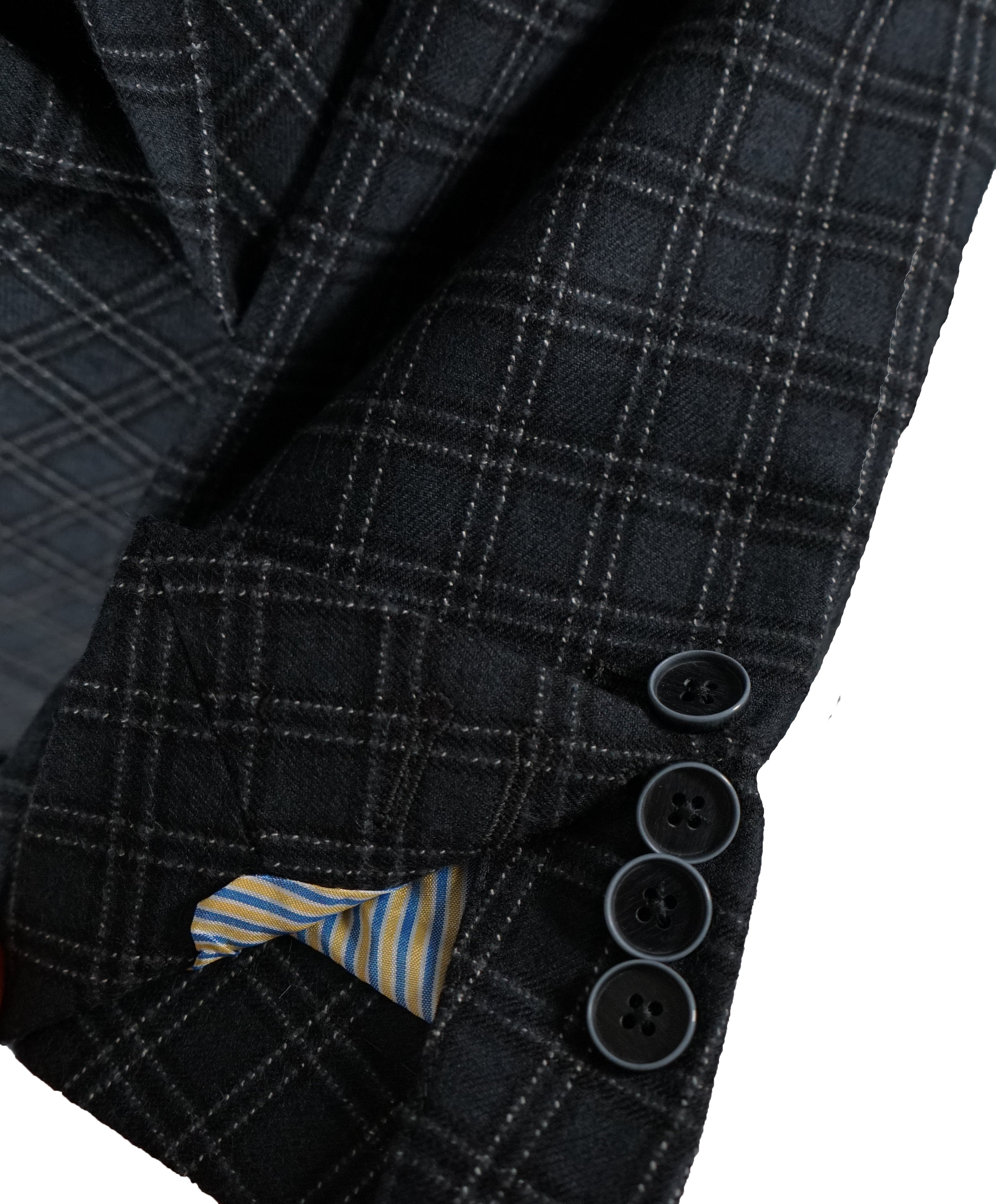 SARTORIE ZANARDELLI - Unlined Gray Bold Plaid Patch Pocket Suit Made In Italy-42S