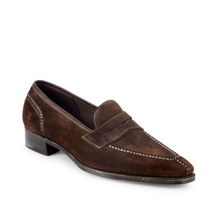 PAUL STUART by GAZIANO GIRLING - Suede Penny Loafers Made In England- 11US