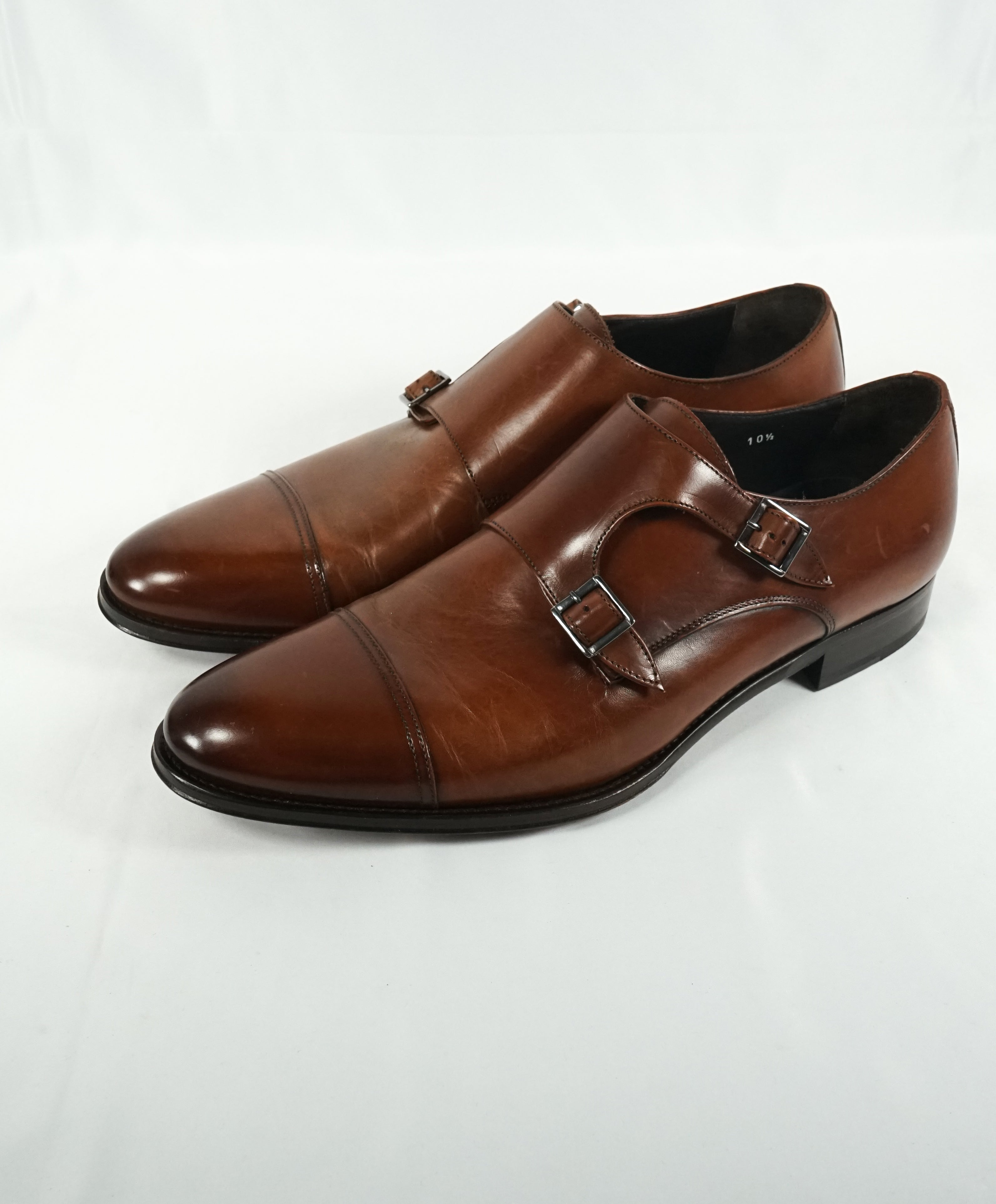 TO BOOT NEW YORK - Double Monk Strap Loafers Round Toe Brown - 10.5