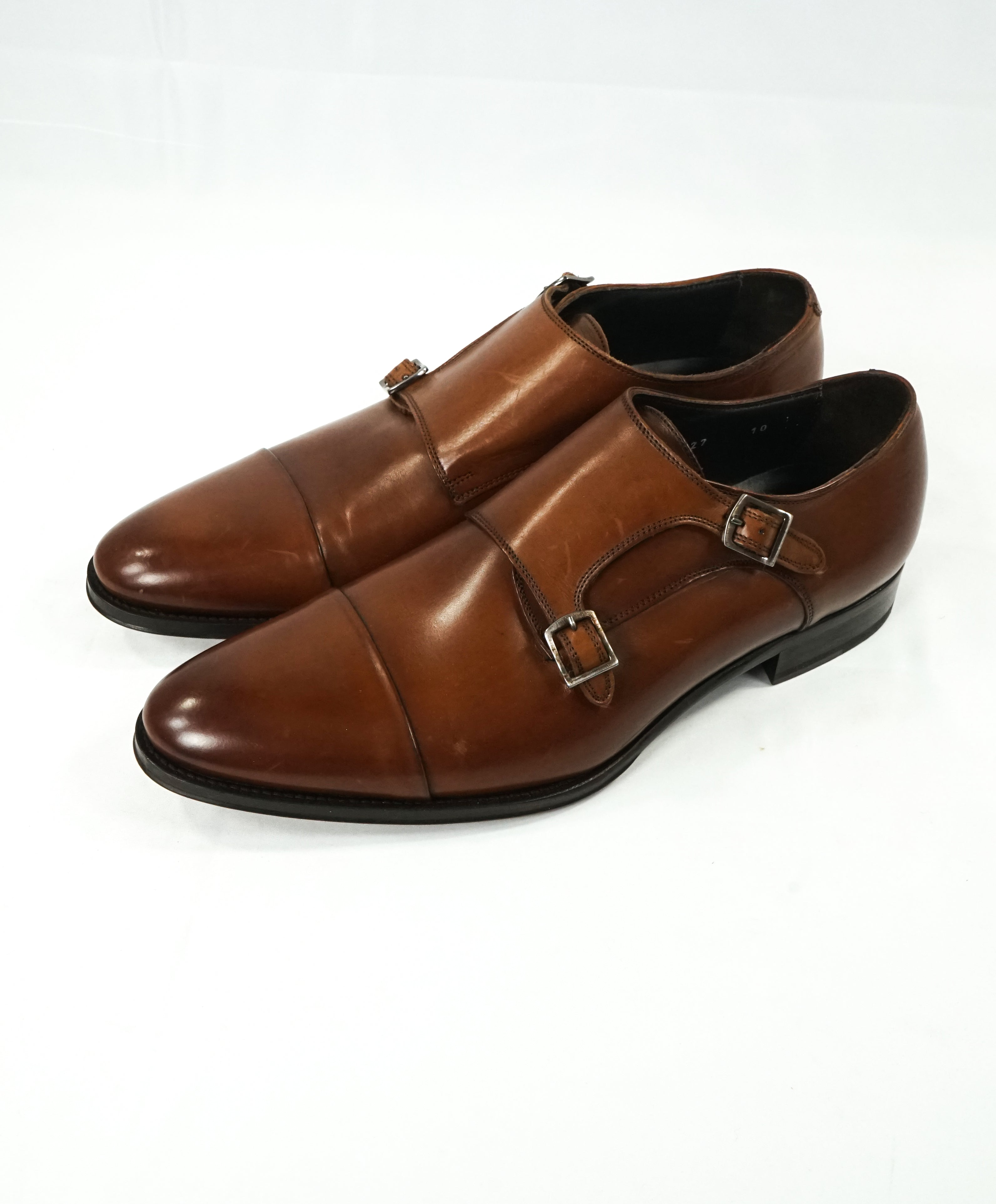 TO BOOT NEW YORK - Double Monk Strap Loafers Brown Round Toe - 10