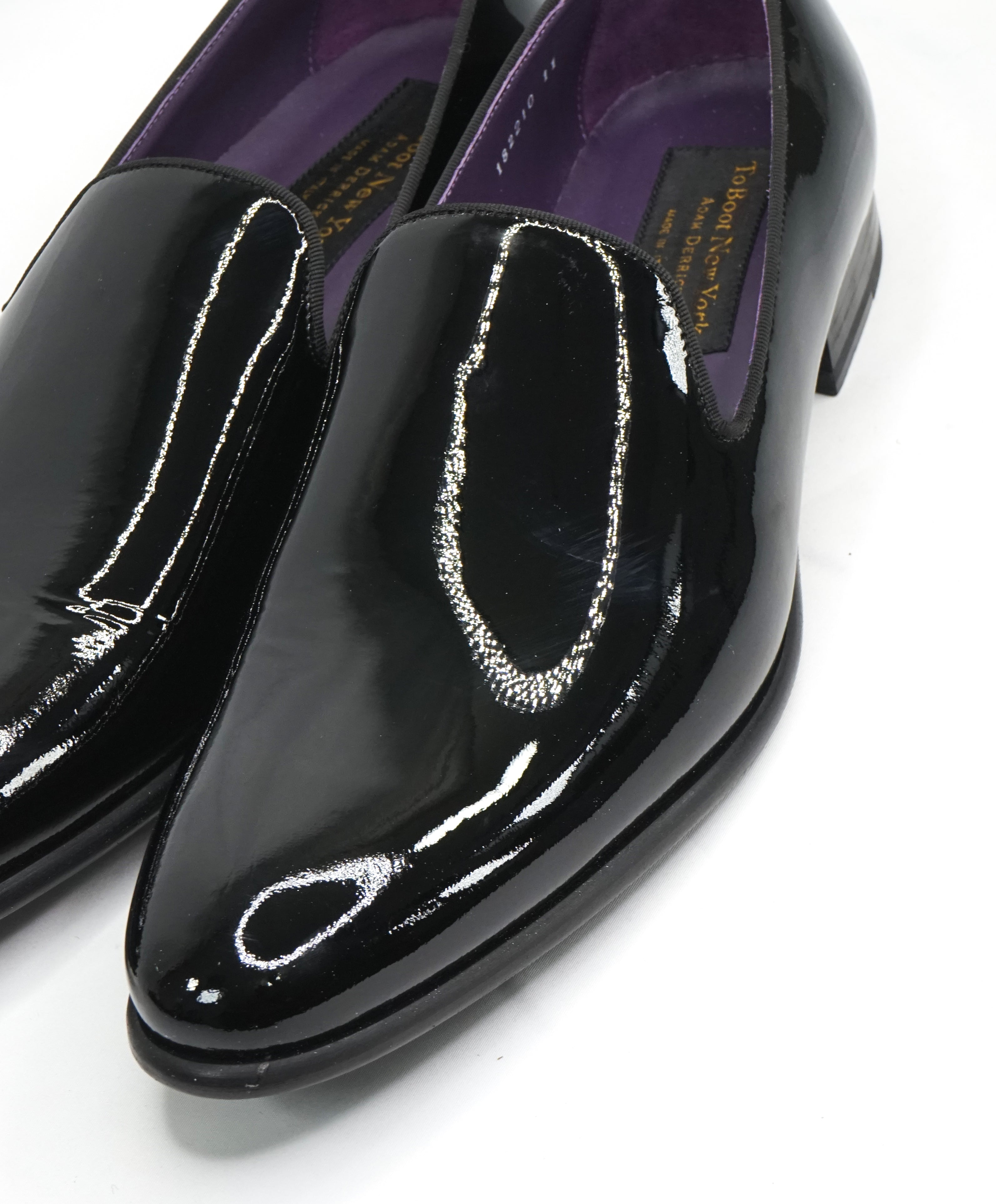"TO BOOT NEW YORK - ""Delevan"" Black Patent Leather Round Toe Loafers - 11"