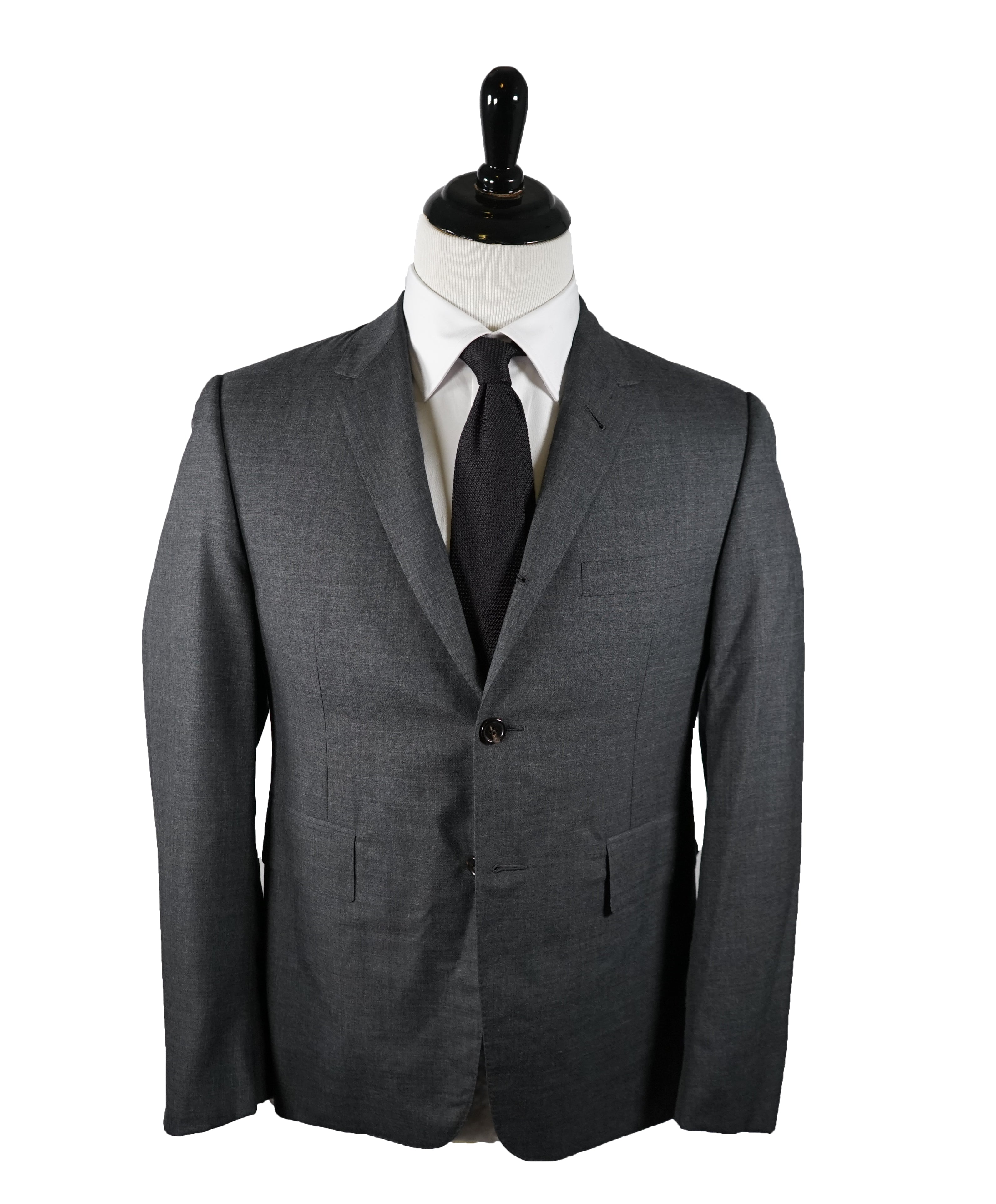 THOM BROWNE - Gray Premium Suit With Iconic Logo Detailing - SZ 2