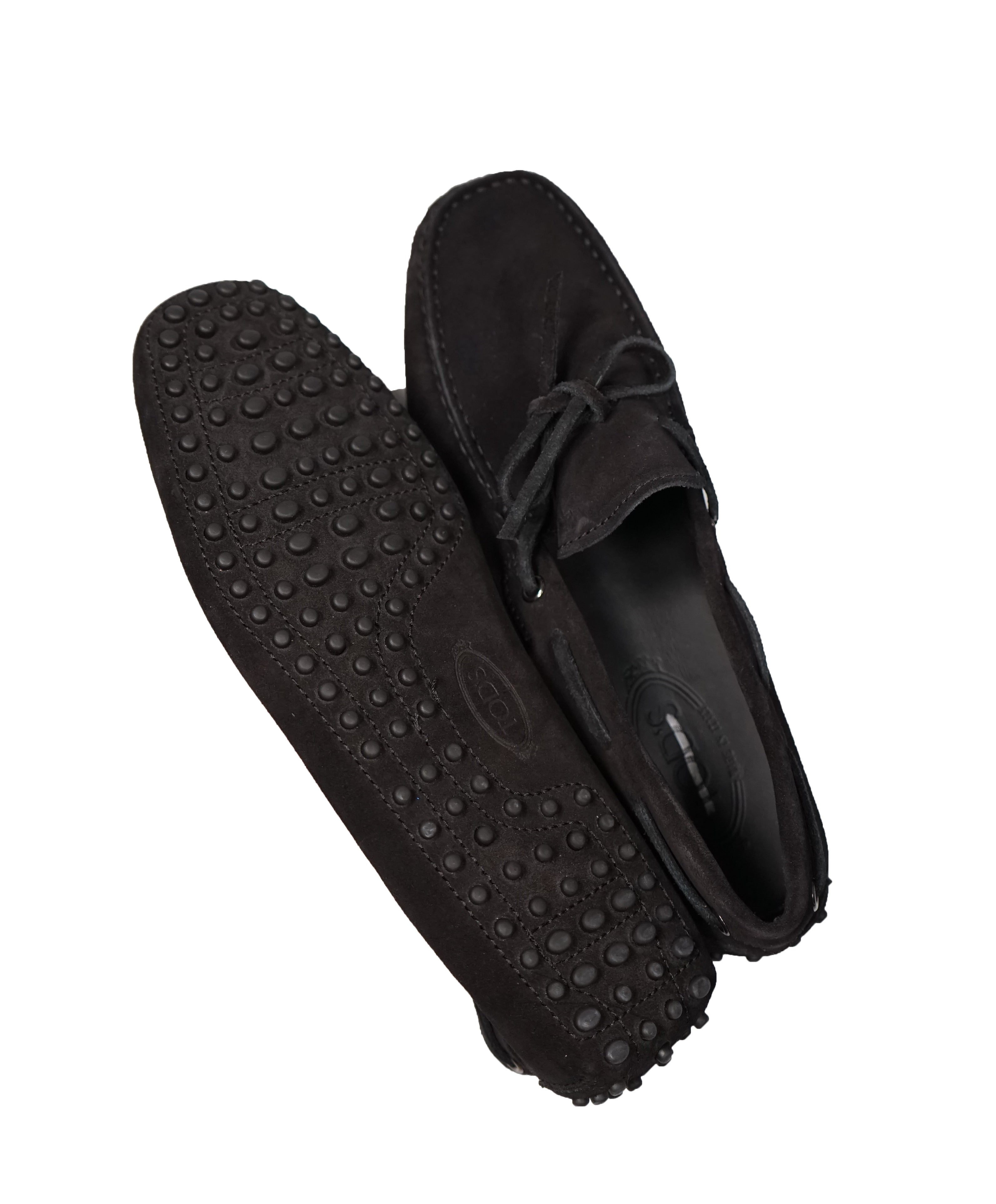 TOD'S - Black Laccetto Driving Loafers Knot Front - 8US