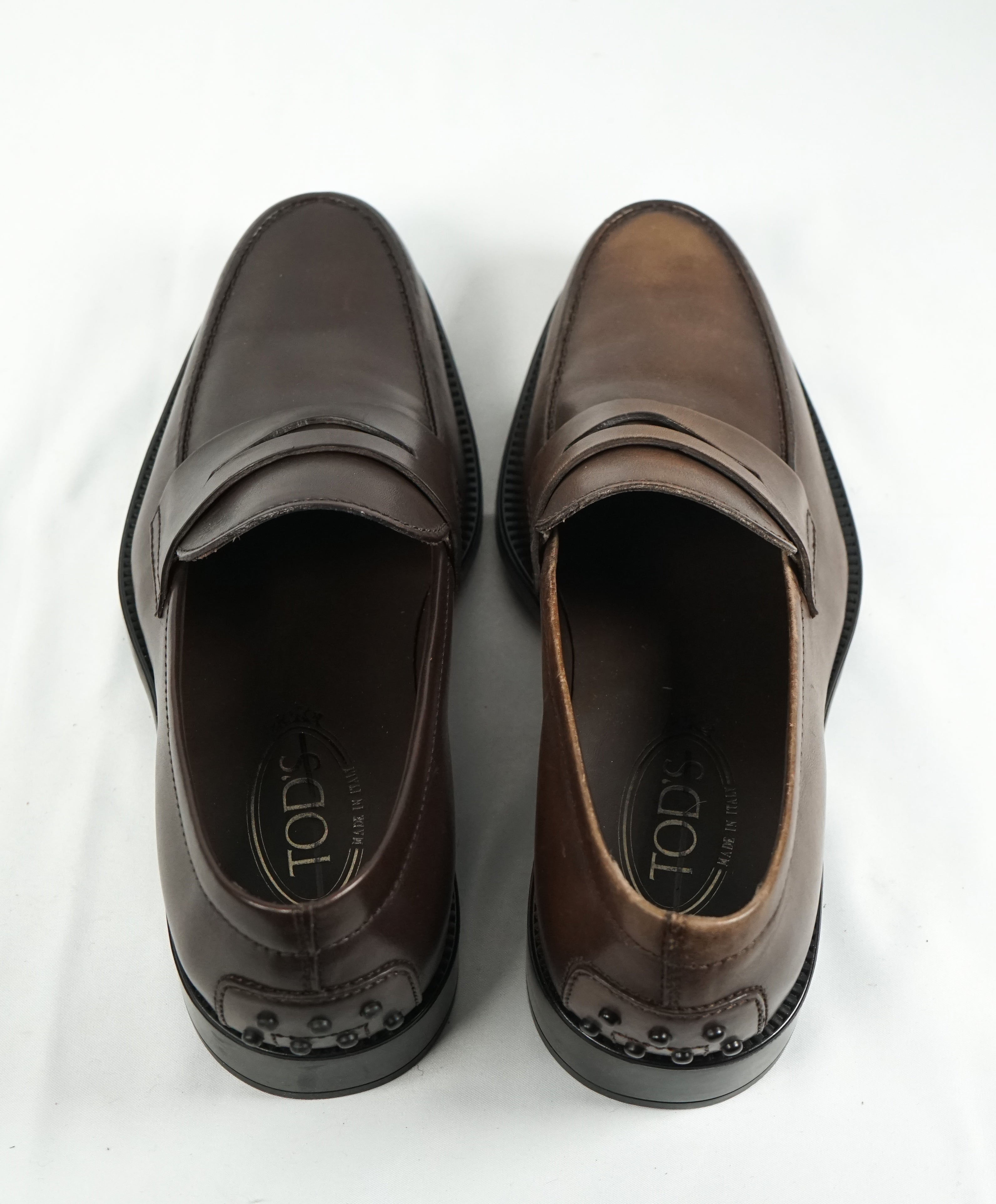 "TOD'S - ""Boston"" Driver Detailed Penny Loafer Brown - 8"