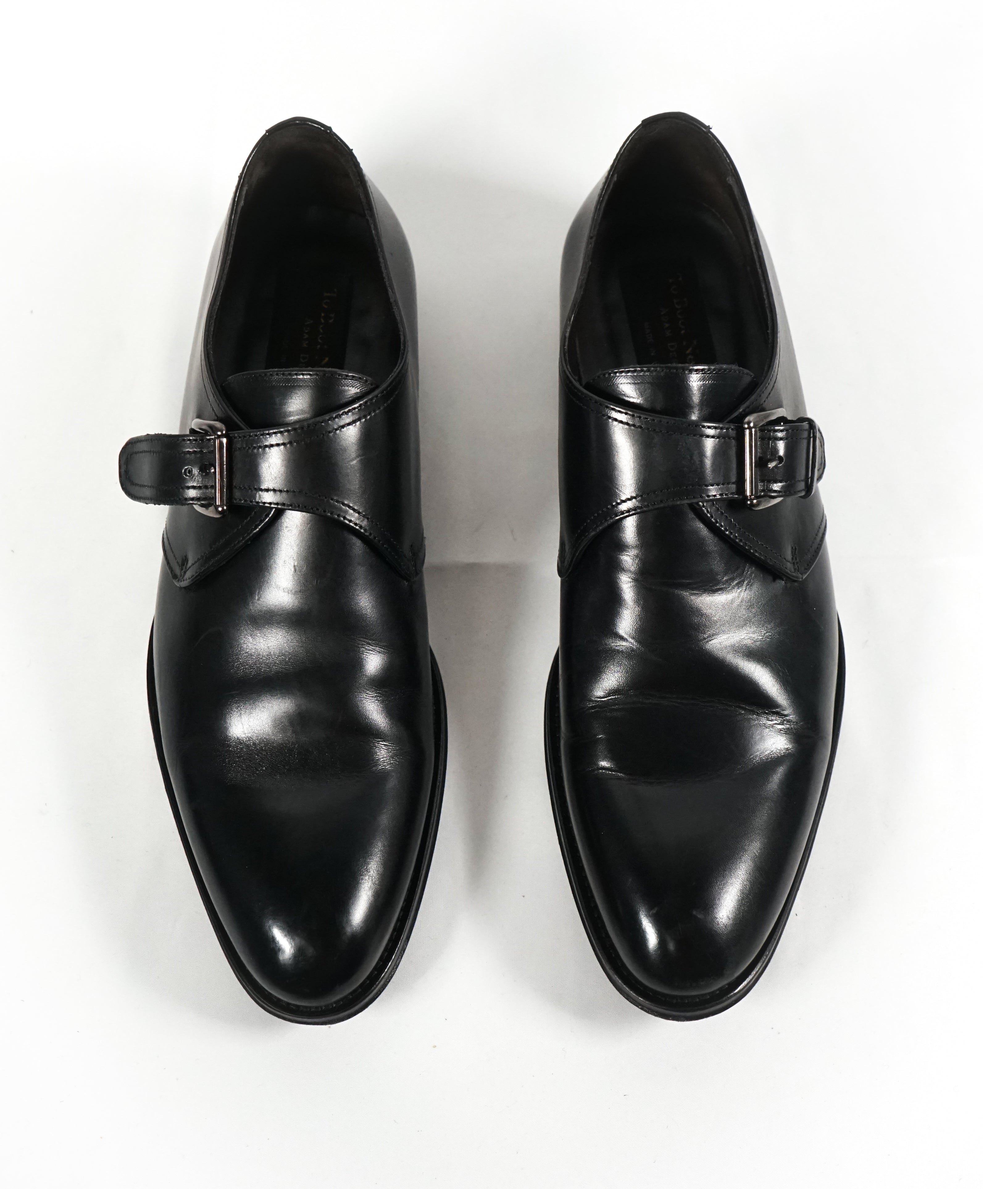 "TO BOOT NEW YORK - ""Campbell"" Single Monk Strap Black Loafers - 8.5"