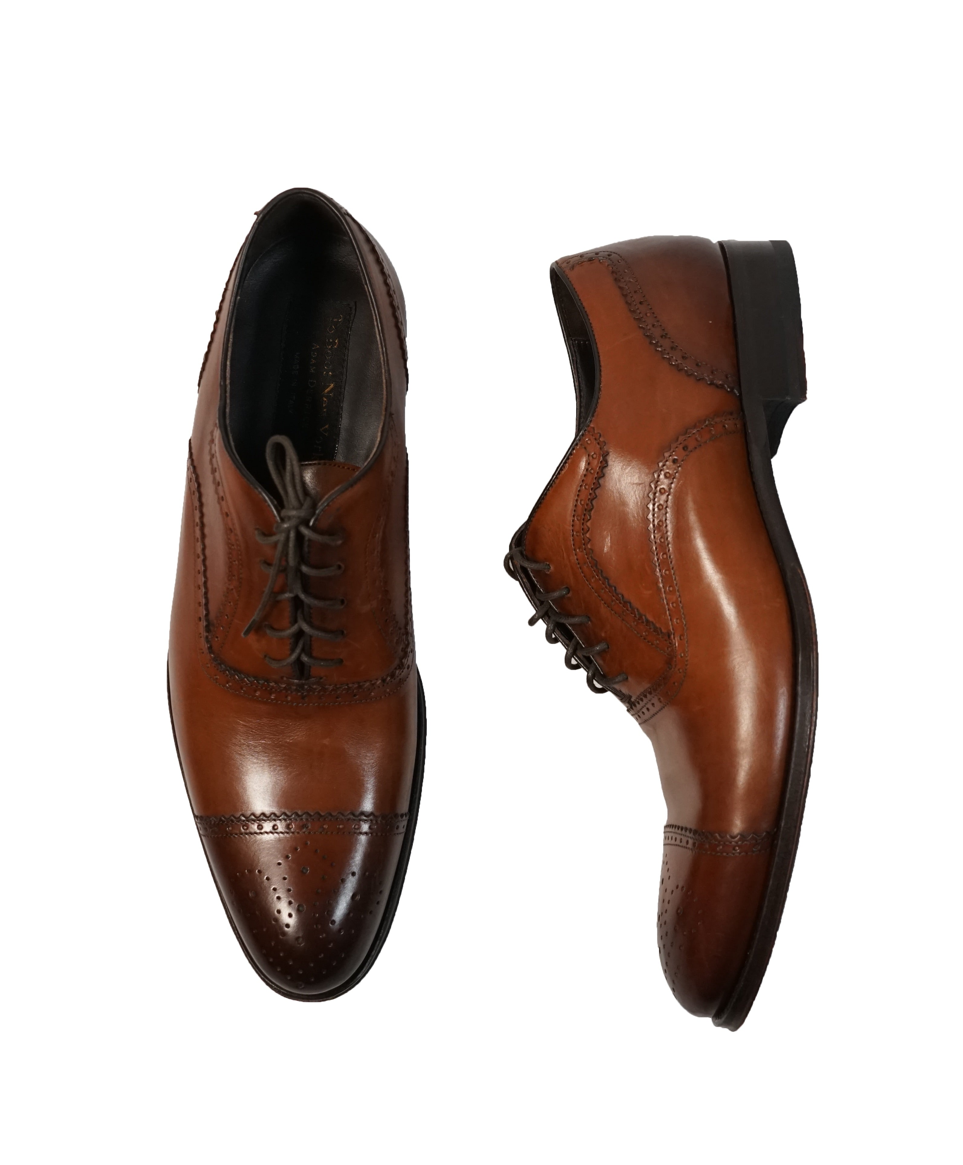 "TO BOOT NEW YORK -""Capote"" Cap-toe Brown Oxfords - 10"