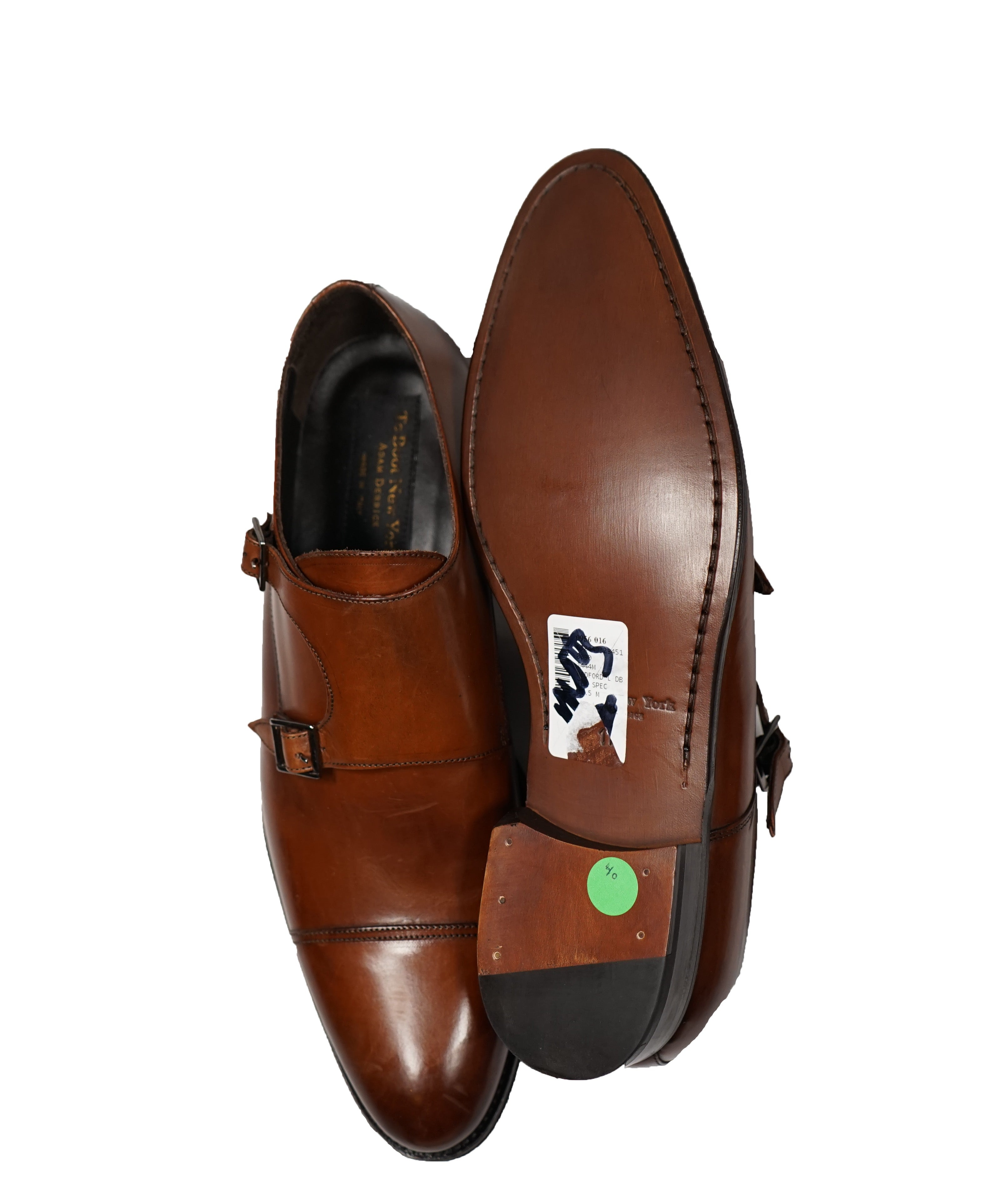 TO BOOT NEW YORK - Double Monk Strap Loafers Brown - 11.5