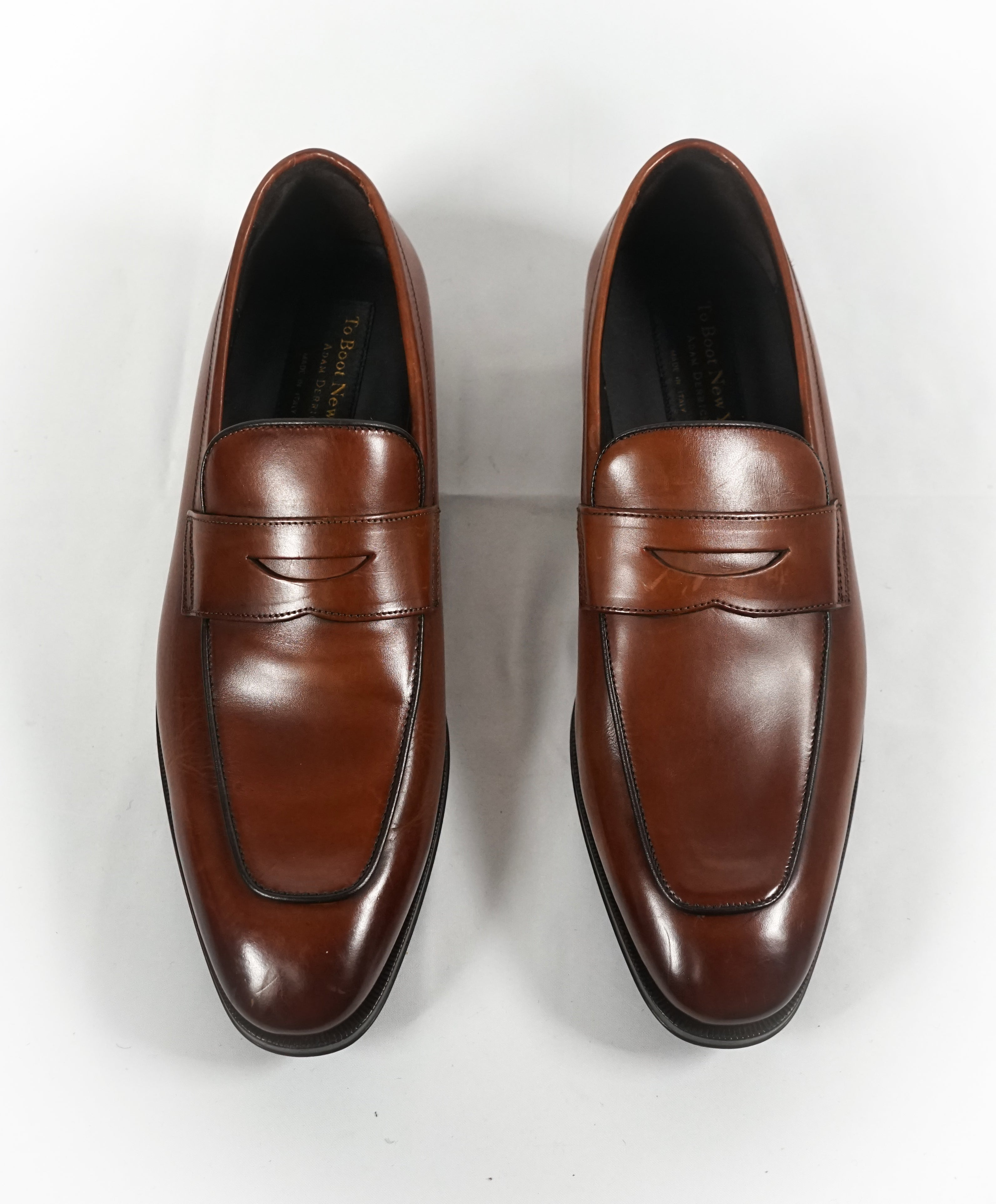"26529650bb5 TO BOOT NEW YORK - ""Dupont"" Brown Premium Grade Leather Penny Loafers - 8.5"