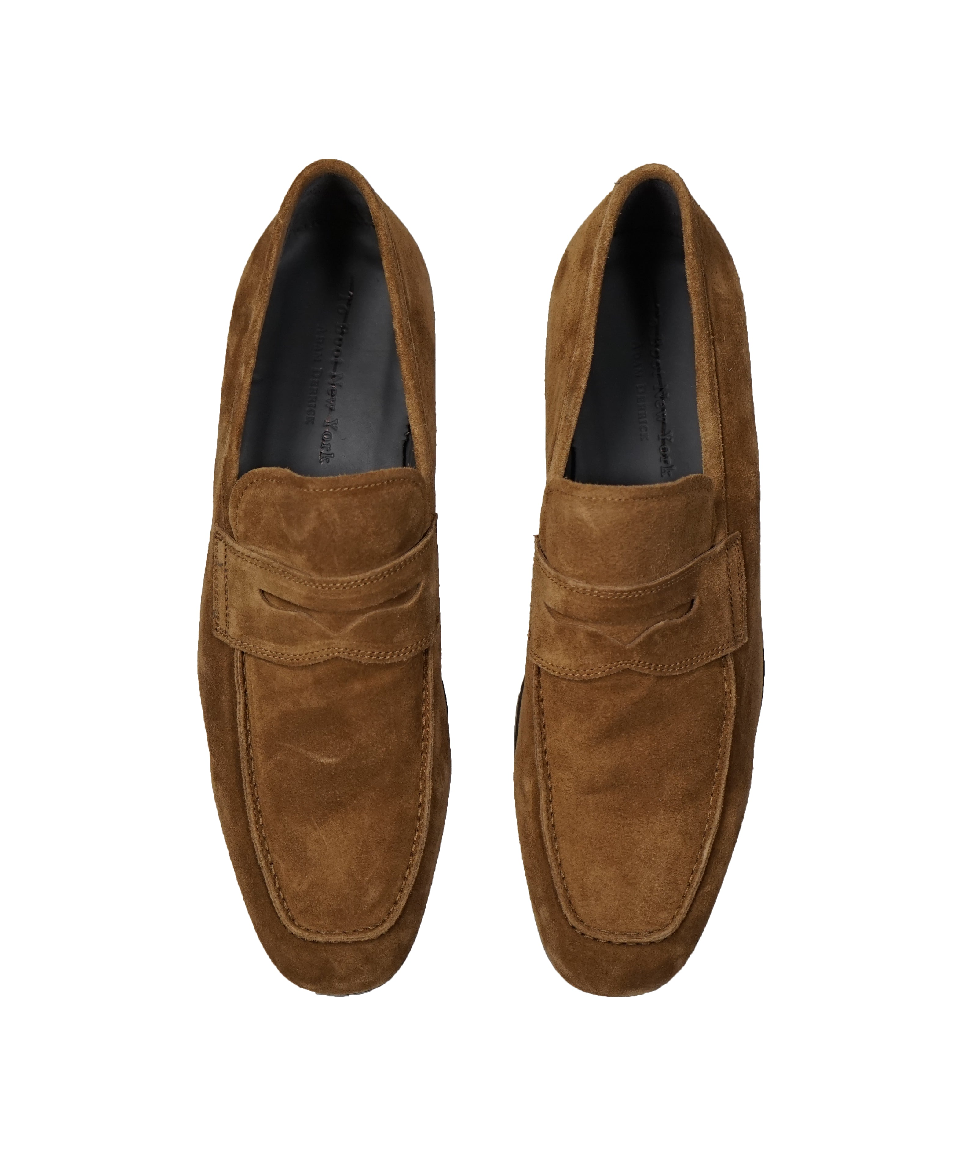 TO BOOT NEW YORK - Tobacco Brown Distressed Penny Loafers - 11