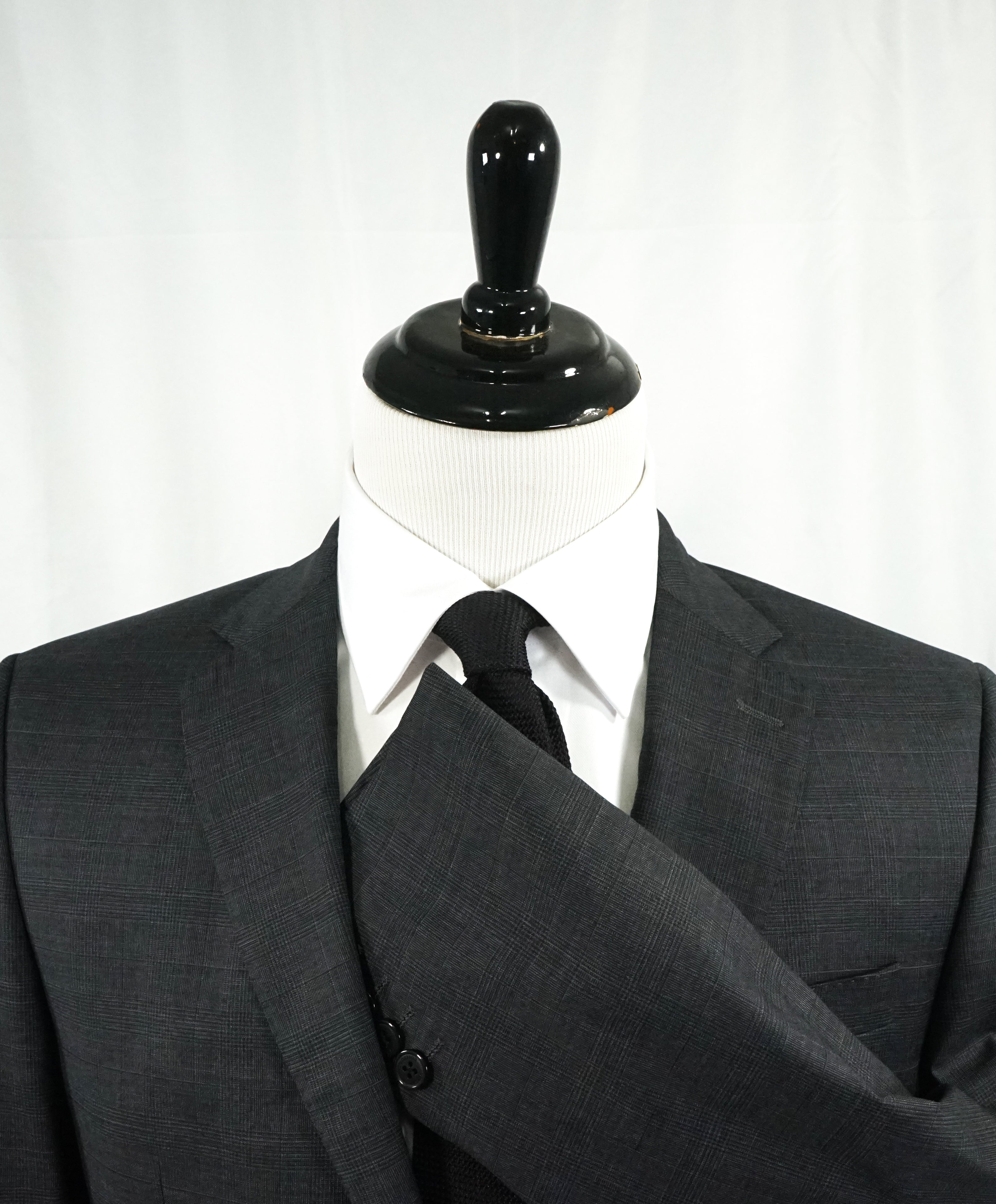 VERSACE COLLECTION - Gray Prince of Wales Check Plaid Suit  - 40L