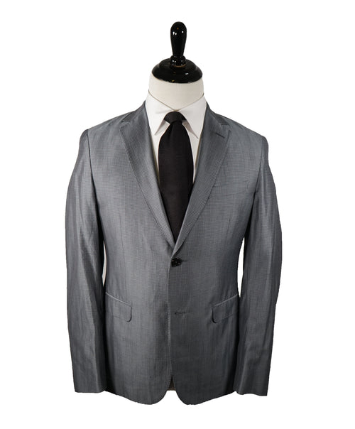 Z ZEGNA - Sharkskin Plaid Wool/Cotton Partially Lined Suit - 38R