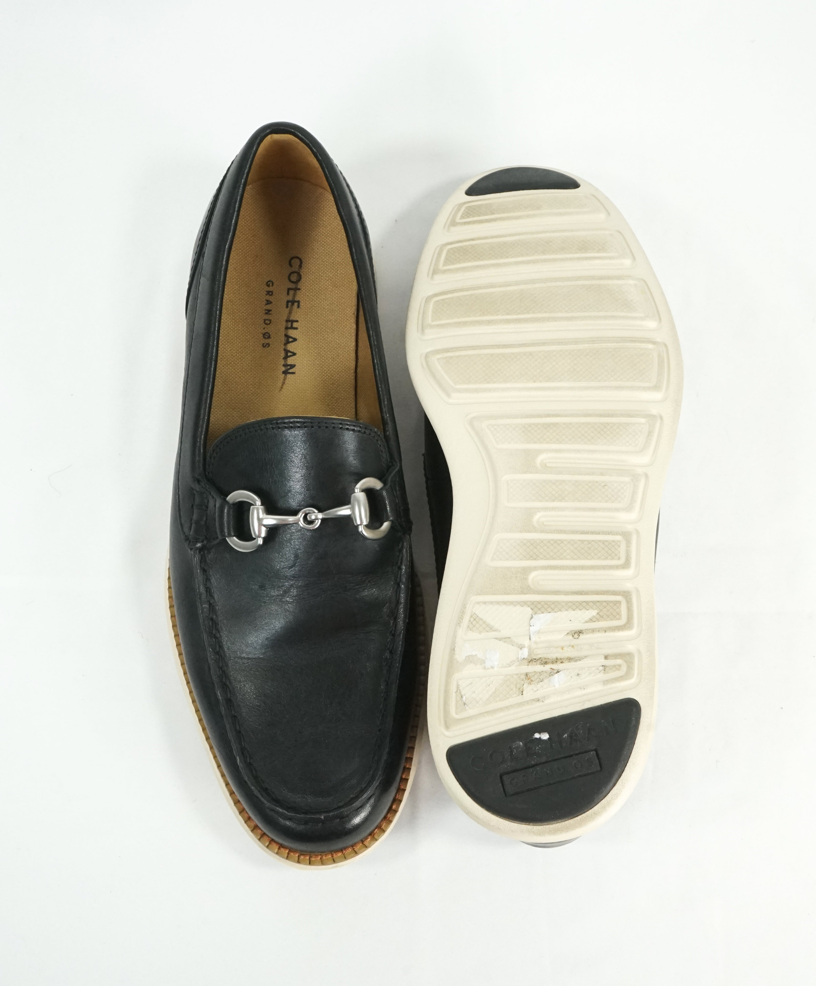 COLE HAAN - Air Grand OS Black Bit Front Padded Loafers - 7.5