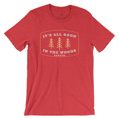 All Good in the Woods Tee - Hth Red