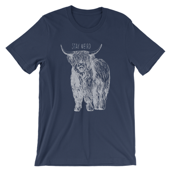Stay Weird Tee - Navy