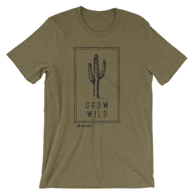 Grow Wild Tee - Olive Triblend - Sawyer