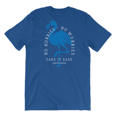 No Worries Tee - Royal Blue