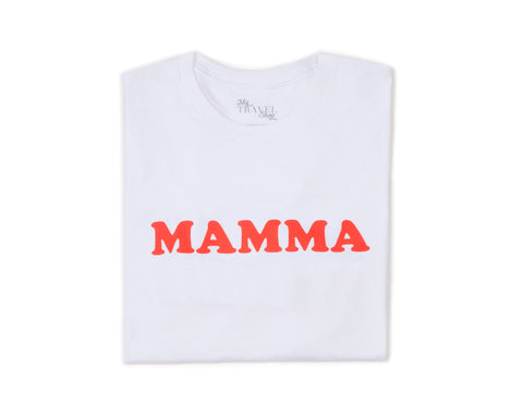 Tee-shirt MAMMA blanc / rouge - MyTravelDreams