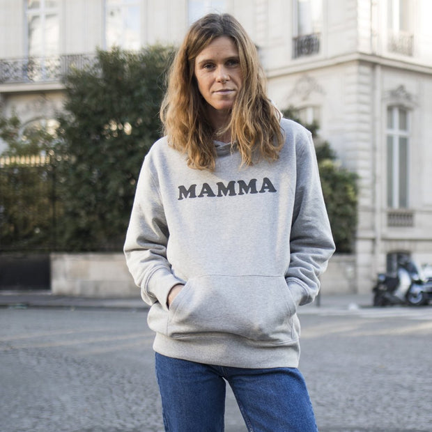 Hoodie MAMMA gris chiné - MyTravelDreams