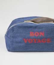 Trousse de toilette en denim clair Rive Droite Paris - MyTravelDreams