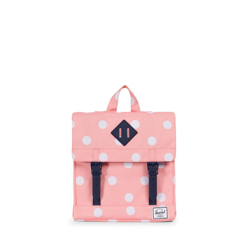 Herschel KIDS Survey rugzak | Peach - Polka dot