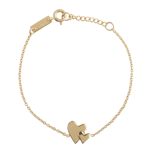 Armband Dochter | 'Our hearts beat as one' - Gold