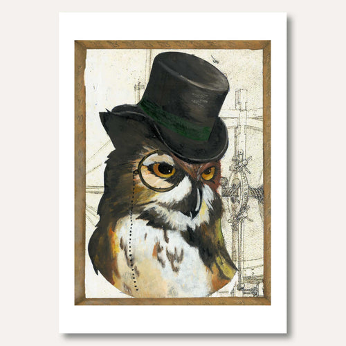 'Dapper Owl' by Hazel Langford