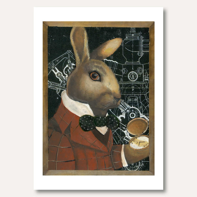 'Rabbit With Pocket Watch' by Hazel Langford