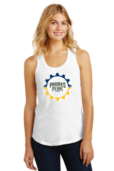 Padres Pedal White Tank Top (Women's)