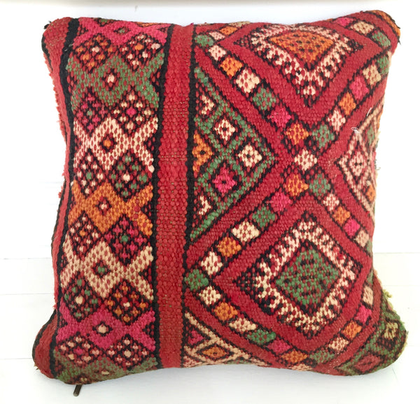 Vintage Double-sided Moroccan Pillow