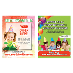 "Birthday Parties 3""x4"" Ad Cards"