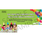 "Birthday Party 6""x11"" Postcards"