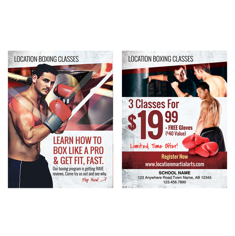 "Boxing 3""x4"" Ad Cards"