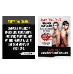 "Muay Thai 3""x4"" Ad Cards"