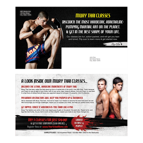 "Muay Thai 6""x11"" Postcards"
