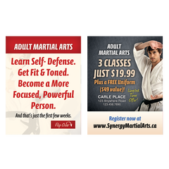"Adult Martial Arts 3""x4"" Ad Cards (Concept 1)"